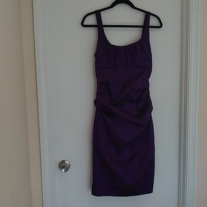 S.L Fashions purple runched party dress